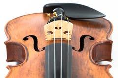 Όργανο μουσικής βιολιών που απομονώνεται στο λευκό Στοκ Εικόνες