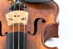 Όργανο μουσικής βιολιών που απομονώνεται στο λευκό Στοκ εικόνα με δικαίωμα ελεύθερης χρήσης
