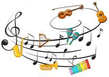 Όργανο μουσικής με τη σημείωση μουσικής απεικόνιση αποθεμάτων
