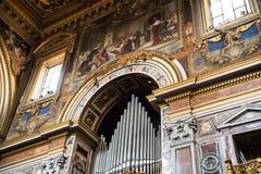Όργανο στη βασιλική του ST John Lateran στη Ρώμη Ιταλία Στοκ εικόνα με δικαίωμα ελεύθερης χρήσης