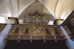Όργανο στη μεσαιωνική εκκλησία του κάστρου Kronborg Στοκ εικόνες με δικαίωμα ελεύθερης χρήσης