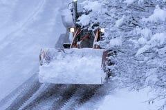 Όργωμα χιονιού Στοκ φωτογραφίες με δικαίωμα ελεύθερης χρήσης