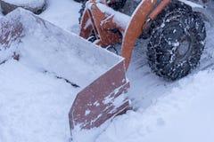 Όργωμα χιονιού Στοκ Φωτογραφία