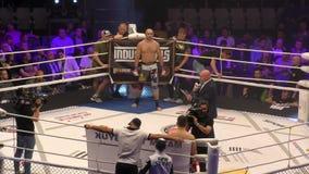 Όρενμπουργκ, Ρωσία - 15 Ιουνίου 2018 έτος: Οι μαχητές ανταγωνίζονται σε MMA φιλμ μικρού μήκους