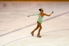 Όρενμπουργκ Ρωσία 26 03 2016: Τα κορίτσια ανταγωνισμών λογαριάζουν το σκέιτερ Στοκ Φωτογραφίες