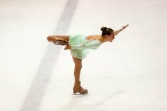 Όρενμπουργκ Ρωσία 26 03 2016: Τα κορίτσια ανταγωνισμών λογαριάζουν το σκέιτερ Στοκ Εικόνα