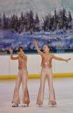 Όρενμπουργκ, Ρωσία - 20 Φεβρουαρίου 2017 έτος: Τα κορίτσια ανταγωνίζονται στο πατινάζ αριθμού Στοκ εικόνες με δικαίωμα ελεύθερης χρήσης