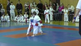 Όρενμπουργκ, Ρωσία - 13 Φεβρουαρίου 2016: Τα παιδιά ανταγωνίζονται στο jiu-jitsu φιλμ μικρού μήκους
