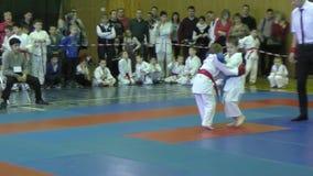 Όρενμπουργκ, Ρωσία - 13 Φεβρουαρίου 2016: Τα παιδιά ανταγωνίζονται στο jiu-jitsu απόθεμα βίντεο