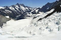 Όρη Γαλλία της Mont Blanc παγετώνων Στοκ εικόνα με δικαίωμα ελεύθερης χρήσης