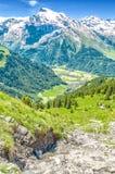 όρη Ελβετός Θέρετρο Engelberg Να ταξιδεψει με τα πόδια μέσω του Swis Στοκ Εικόνα