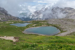 Όρη δολομιτών, βουνό, καλοκαίρι, Ιταλία Στοκ Φωτογραφία