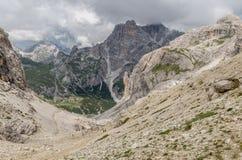 Όρη δολομιτών, βουνό, καλοκαίρι, Ιταλία Στοκ Εικόνες