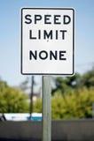 όριο κανένα ταχύτητα στοκ φωτογραφία με δικαίωμα ελεύθερης χρήσης