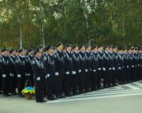 Όρκος της υποταγής στη νέα αστυνομία, των ουκρανικών ανθρώπων στοκ εικόνες με δικαίωμα ελεύθερης χρήσης