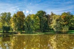 Όρμος, ομορφιά του φθινοπώρου στοκ φωτογραφία
