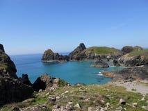 Όρμος Kynance, νησί σαυρών, Κορνουάλλη, Αγγλία στοκ εικόνα με δικαίωμα ελεύθερης χρήσης