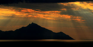 Όρος Άθως Στοκ Φωτογραφία