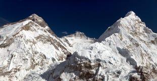 Όρος Έβερεστ, Lhotse και Nuptse Στοκ εικόνες με δικαίωμα ελεύθερης χρήσης