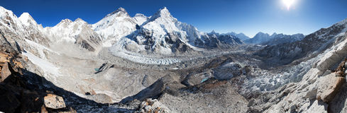 Όρος Έβερεστ, Lhotse και Nuptse Στοκ φωτογραφία με δικαίωμα ελεύθερης χρήσης