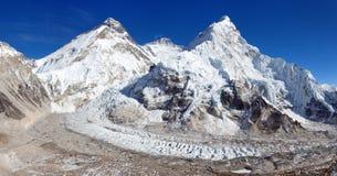 Όρος Έβερεστ, Lhotse και Nuptse Στοκ Εικόνα