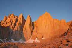 Όρος Whitney στην ανατολή στοκ φωτογραφίες