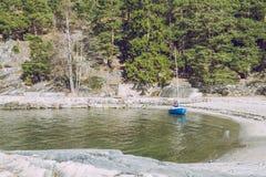 Όσλο, Norvegia, βάρκα και ξύλο 2014 στοκ φωτογραφία με δικαίωμα ελεύθερης χρήσης
