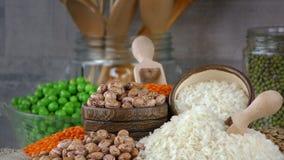 Όσπρια Dlicious και υγιή φυσικά τρόφιμα μιγμάτων φιλμ μικρού μήκους