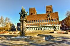 Όσλο Δημαρχείο - Νορβηγία Στοκ εικόνες με δικαίωμα ελεύθερης χρήσης