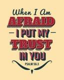 Όταν Ι ` μ φοβισμένο έβαλα την εμπιστοσύνη μου σε σας Ελεύθερη απεικόνιση δικαιώματος