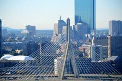 λόφος leonard Μασαχουσέτη π αποθηκών γεφυρών της Βοστώνης zakim Γέφυρα Hill αποθηκών Zakim Στοκ φωτογραφία με δικαίωμα ελεύθερης χρήσης