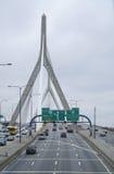 λόφος leonard Μασαχουσέτη π αποθηκών γεφυρών της Βοστώνης zakim Γέφυρα Hill αποθηκών Zakim στη Βοστώνη - τη ΒΟΣΤΩΝΗ, ΜΑΣΑΧΟΥΣΕΤΗ  Στοκ εικόνα με δικαίωμα ελεύθερης χρήσης