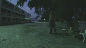 Όχημα αποκομιδής απορριμμάτων οδών, mekong, Καμπότζη, Νοτιοανατολική Ασία απόθεμα βίντεο