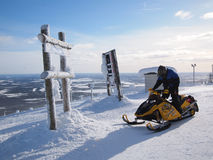 Όχημα για το χιόνι στη Φινλανδία Στοκ φωτογραφία με δικαίωμα ελεύθερης χρήσης