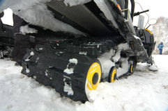 όχημα για το χιόνι φωτογραφιών καμπιών Στοκ Εικόνες