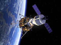 Όχημα εξερεύνησης πληρώματος στο διάστημα Στοκ εικόνες με δικαίωμα ελεύθερης χρήσης