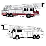 Όχημα πυροσβεστικών οχημάτων διανυσματική απεικόνιση
