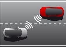Όχημα στο όχημα επικοινωνία ελεύθερη απεικόνιση δικαιώματος