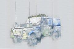 Όχημα στρατού ελεύθερη απεικόνιση δικαιώματος