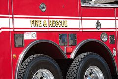 όχημα διάσωσης πυρκαγιάς Στοκ Φωτογραφία