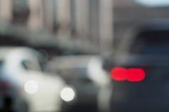 Όχημα Bokeh στο οδικό υπόβαθρο Στοκ Εικόνες