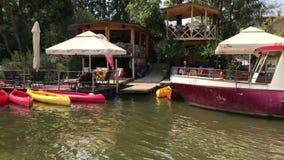 Όχθεις ποταμού Ljubljanica απόθεμα βίντεο