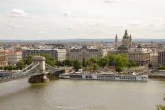 Όχθεις του ποταμού Δούναβη στη Βουδαπέστη Ουγγαρία στοκ φωτογραφία