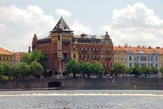 Όχθεις του ποταμού Vltava Στοκ Εικόνες