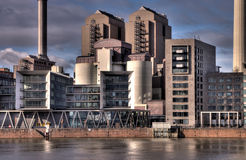 όχθη ποταμού βιομηχανίας Στοκ φωτογραφία με δικαίωμα ελεύθερης χρήσης