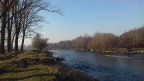 Όχθη ποταμού το πρωί φθινοπώρου στοκ εικόνες με δικαίωμα ελεύθερης χρήσης