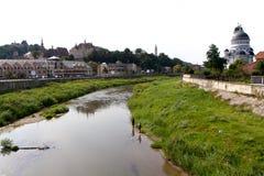 Όχθη ποταμού Sighisoara, Ρουμανία Στοκ φωτογραφία με δικαίωμα ελεύθερης χρήσης