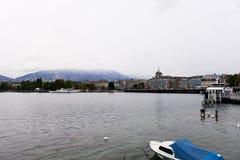 Όχθη της λίμνης της Γενεύης Στοκ φωτογραφία με δικαίωμα ελεύθερης χρήσης