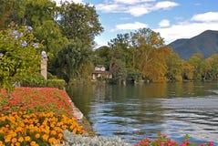 όχθη της λίμνης Λουγκάνο στοκ εικόνες με δικαίωμα ελεύθερης χρήσης
