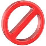 Όχι προειδοποιητικό σημάδι ελεύθερη απεικόνιση δικαιώματος
